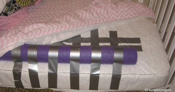 Duct Tape A Pool Noodle To The Mattress Of A Toddler Bed