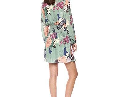 Ella Moon Womens Fraser Ruffled Cold Shoulder Lurex Clip Dot Knee Length Dress