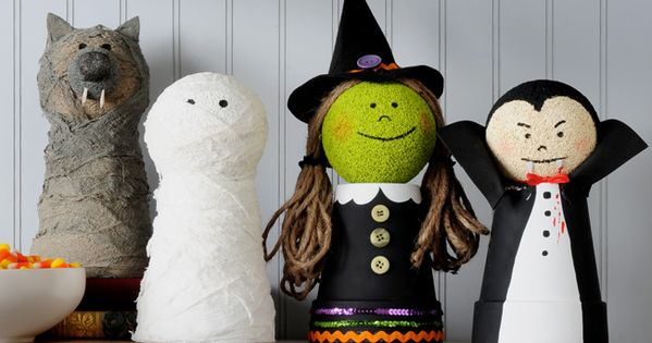 Craft Painting - Halloween Friends -- Craft these cute creatures with paint