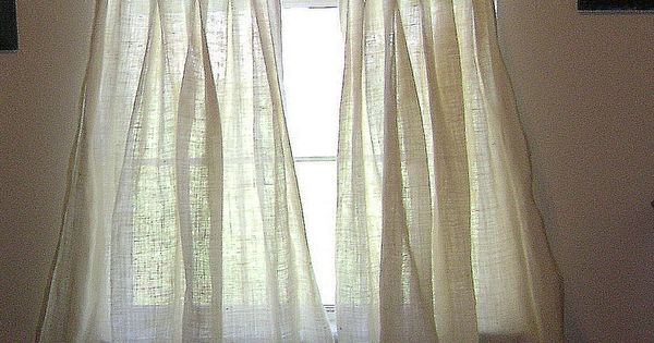 Smocked burlap curtains