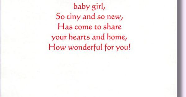 new baby girl verse