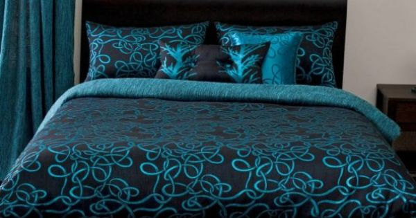 Michael payne twisty vine turquoise bedding by michael for Mis queridos muebles