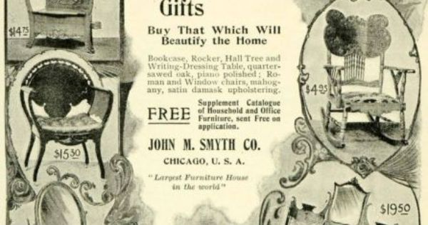1897 ad john m smyth christmas gifts antique household Interior Design Regulations Conference Room Planning Standards