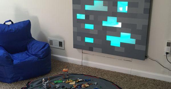 Minecraft, Selber machen and Selbstgemachte Wandkunst on Pinterest