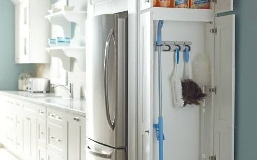 Cleaning Storage - Creative ways to gain extra storage space in your kitchen kitchenstorage www.lvhomeexpert....