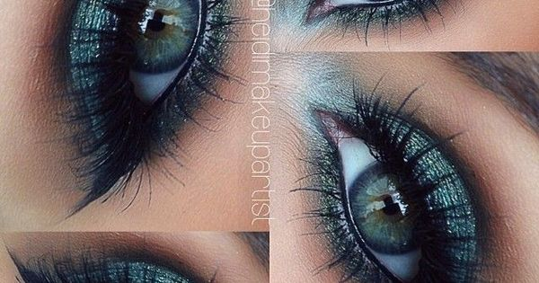 Turquoise colored eyeshadow is so pretty with green and blue eyes. Even