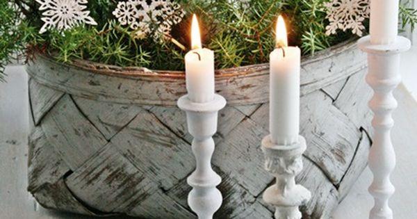Christmas season winter beautiful snow Christmas decorations candles decor