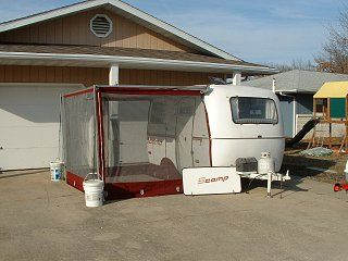 1978 Scamp W Screen Room 003 Jpg Rv Screen Rooms Scamp Trailer Camper Awnings