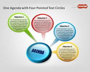 Free Business Agenda With Pointed Text Circles Powerpoint Template