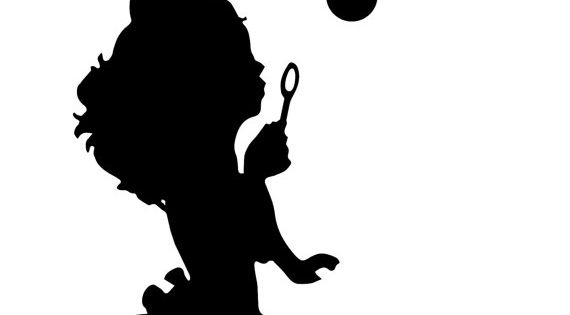 Girl Blowing Bubbles 2 Girls Room Wall Decal By