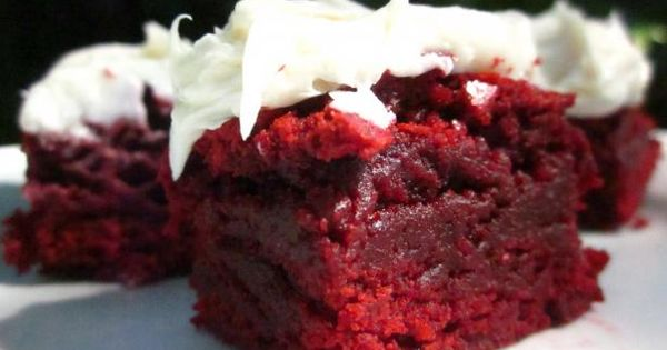 The Realtor's Red Velvet Brownies with White Chocolate Frosting