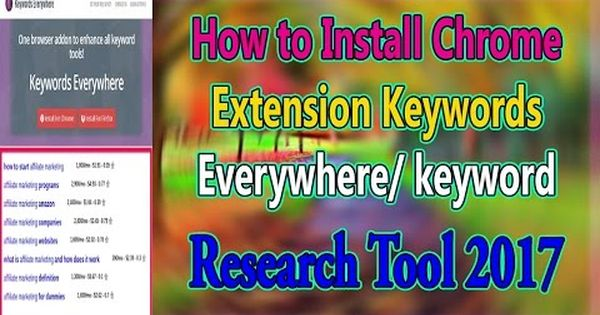 How To Install Chrome Extension Keywords Everywhere Keyword Research Too Chrome Extension Installation Research