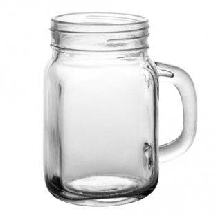 Barconic Glassware 12 Ounce Mason Jar Mug Cheap Mason Jars Mason Jars With Handles Mason Jar Mugs