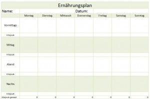 Ernahrungsplan Als Excel Vorlage 15