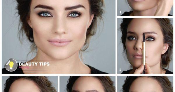 إليكم فيديو تعليمي شامل حول ترتيب وتحديد حواجبك بشكل مثالي تعلمي أفضل الطرق لتحديد الحواجب والتي ستضفي على وجهك أناقة وتمن Fashion Makeup Makeup Looks Makeup