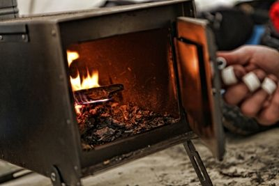 Sheet Metal Stoves Use In The Arctic Oven Tent To Keep You Warm