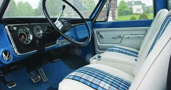 Highlander Interior 71 72 Chevrolet White Blue Buckets W