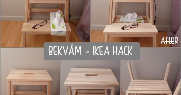 Bekv m als nachttisch diy ikea bekvam stool for Relooking chambre parents