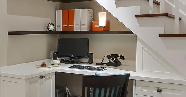 11 Pictures of Organized Home Offices - what a great idea for