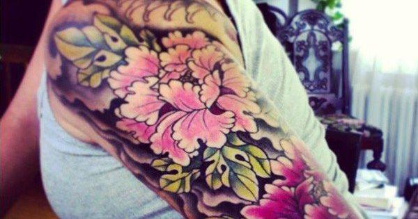 Peony tattoo on sleeve - 50 Peony Tattoo Designs and Meanings |