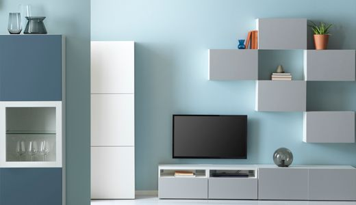 Bestat V Storage Combination White Lappviken Light Gray Ikea Living Room Ikea Ikea Catalog