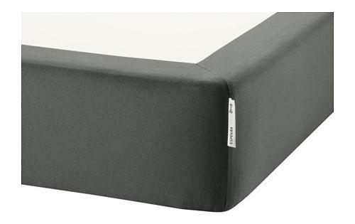 espev r boxspring mit federholzrahmen dunkelgrau 140x200 cm ikea room for young ladies. Black Bedroom Furniture Sets. Home Design Ideas