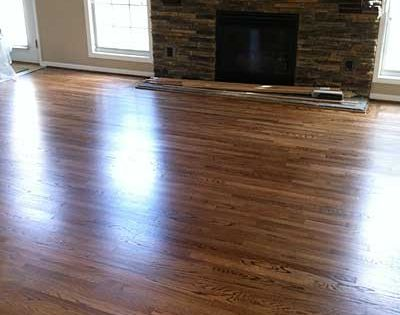 Red Oak With Duraseal Special Walnut Stain Bona Traffic