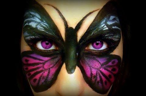 Butterfly Makeup Transformation Tutorial - YouTube | Halloween | Pinterest | Butterfly Face ...