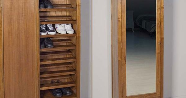 I would do this with my antique full length mirror como for Mueble guarda zapatos