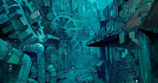 underwater illustration - Demizu Posuka