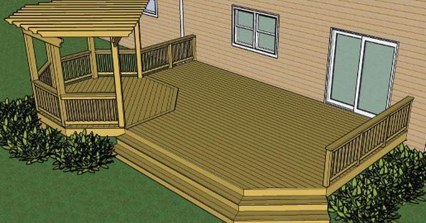Pin By Laura Evans On Outside Decks Backyard Building A Deck Backyard Deck