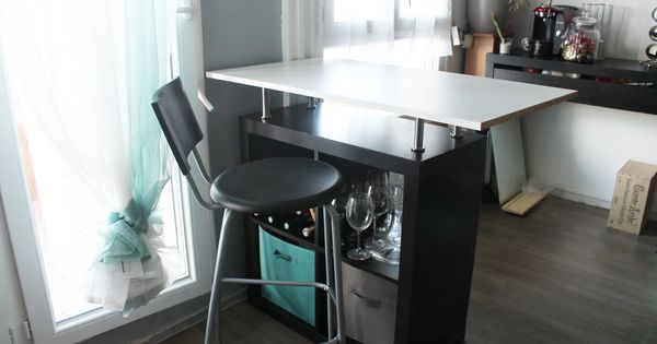 Transformer un meuble ikea en bar bureau pinterest for Meuble bureau 76