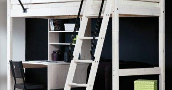 White Stora Loft Bed From Ikea Spare Room Pinterest