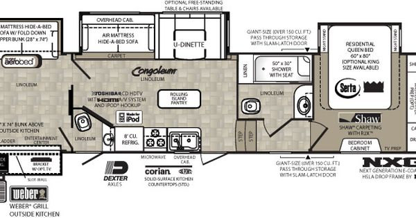 5th Wheel 2 Bathroom With Ramp Floor Plans Wildcat Floorplans Rv Floor Plans Fifth Wheel 5th Wheel Trailers