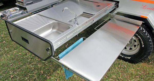 Concealed Pull Out Dining Bench Camper Trailer Sprinter