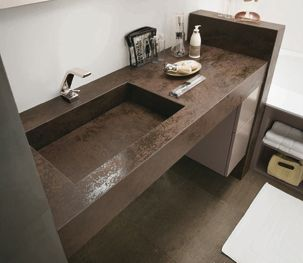Pin su thin ceramic worktop, sink, vanities