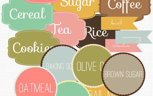 kitchen labels- free printable labels for kitchen organization