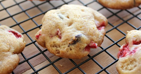 Home Skillet - Cooking Blog: Chocolate Strawberry Cake Cookies with Orange Zest