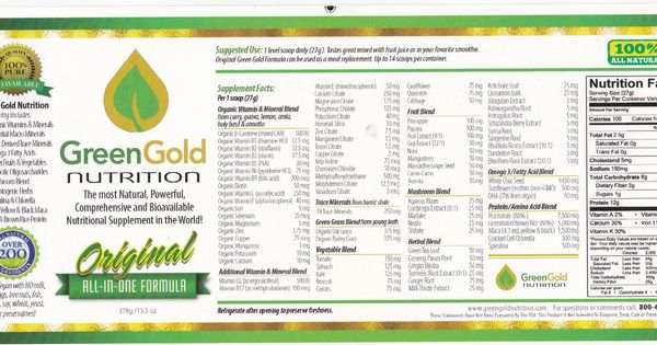 Www Greengoldnutrition Com Nutrition Facts Nutrition Green And Gold