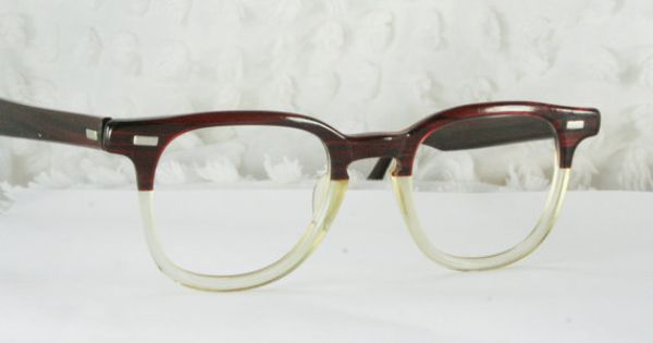 Vintage Green Eyeglasses Round Oversized 1980s Retro Mens ...