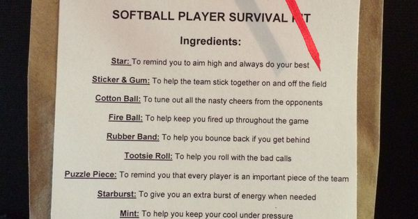 Softball survival kit #teammoms | Softball stuff | Pinterest | Crafts ...