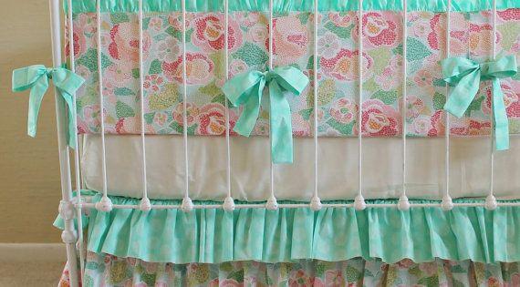Love this ruffled crib skirt!