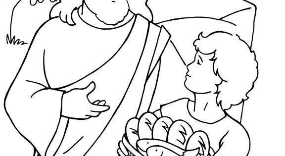 Jesus Feeds 5 000 Coloring Page Agency D3 Vbs 2014 Sermons4kids Coloring Pages