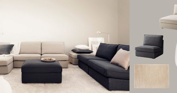 Kivik Sofa Combination With Dansbo Beige Cover And Sofa