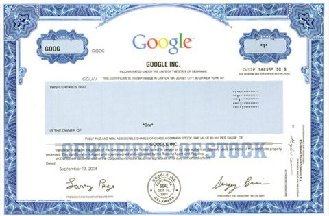 Your Google Shares report will give you 5 key investment decision - blank share certificates