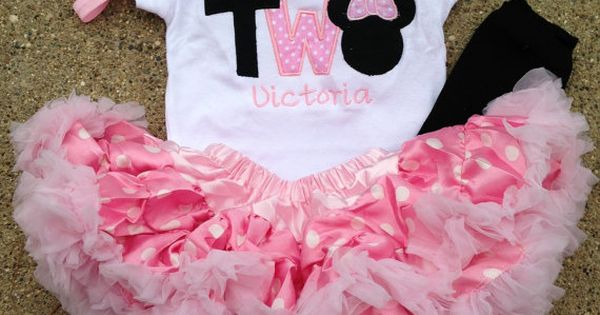 Pink and black minnie mouse birthday outfit - 1st birthday shirt petti
