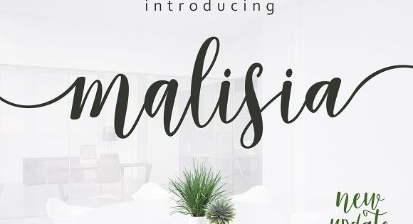 Malisia Script Font with the kind of modern hand scratches