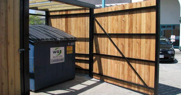Steel Framed Garbage Enclosure Garage Door Installation Track Door Property