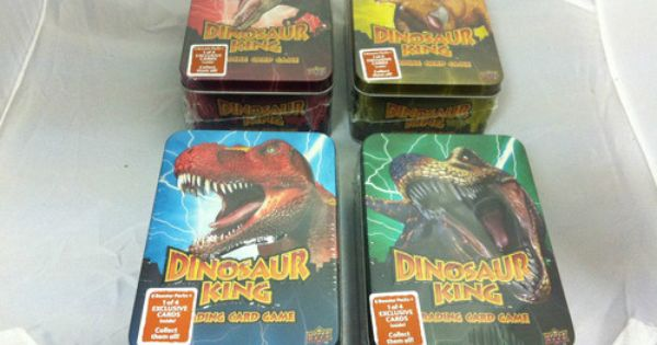 Details About Dinosaur King Trading Card Game Rare Collector Tin