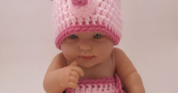 Crochet Outfits for Babies and Kids. Little Pig Costume for Baby.